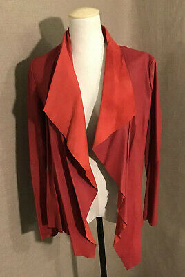 Womens Corleone Red Genuine Leather Bomber Jacket Flared Sz 8 Rare