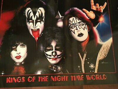 KINGS OF THE NIGHT time world **KISS**LARGE wall Poster