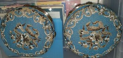 A Pair Of Antique Beaded Foot Stools