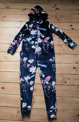 Ted Baker Hooded Floral Onesie Age 12- 13 Excellent Condition (Not Gerber)Girl's