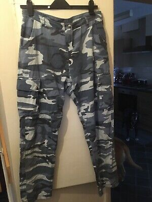 Newlook 915 Age 15 Grey White Beige Army Combat Trousers