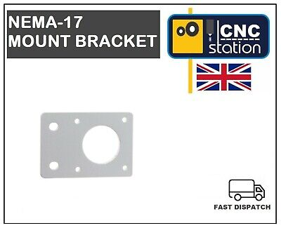 Nema 17 42mm Stepper Motor Mount Flat Bracket Plate Alloy CNC 3D Printer UK