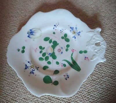 Vintage Hand Painted China Sandwich/Cake Serving Plate, Tulip & Irises unmarked