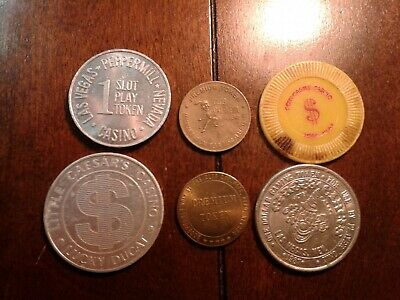 Mix lot of Casino Chips & Gaming Tokens  Las Vegas & RenoPeppermill CircusCircus