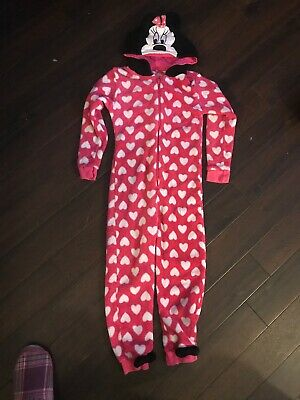 Disney Minnie Mouse Hooded One Piece Heart Bows