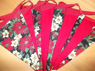 2 Metres Of Double Sided Christmas-Fabric Bunting