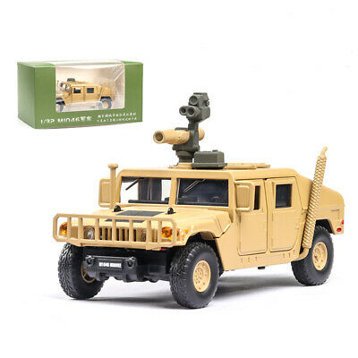 1:32 HMMWV M1046 Humvee Military Force Vehicle Model Car Diecast Gift Toy Yellow
