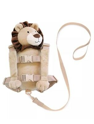 Lion Plush Backpack Harness Walking Child Safety Travel Adjust Growing Baby Bag