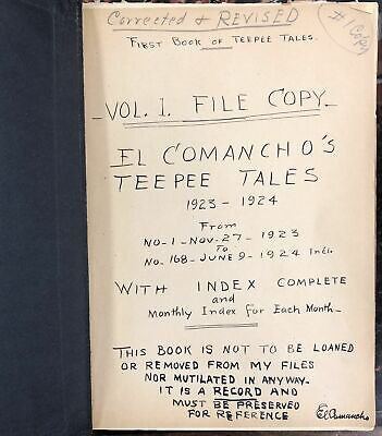 Walter Shelley Phillips / Archive Copies of El Comancho's Teepee Tales