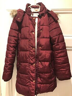 John Lewis Girls Lined Padded Hooded Coat Jacket Navy 12yrs