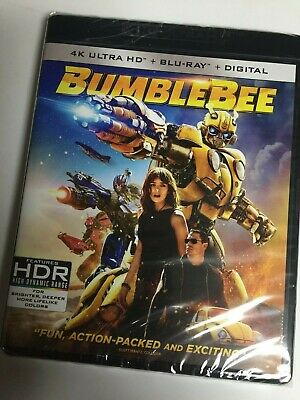 Transformers: BumbleBee (4K Ultra HD Blueray/Blu-ray,2018,2-Disc) Sealed No Code