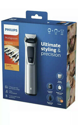 Philips MG7710 Multigroom Series 7000 Trimmer Combs Nose Ear Precision Shaver