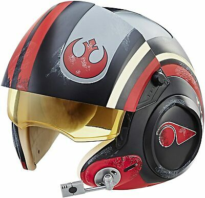 Realistic Star Wars The Black Series Poe Dameron Electronic X-Wing Pilot Helmet
