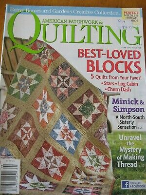AMERICAN PATCHWORK QUILTING MAGAZINE #104 Stars Blocks House Circles Dot Modern