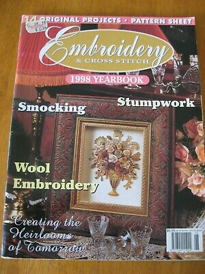 EMBROIDERY & CROSS STITCH MAGAZINE # 1998 YEARBOOK Stumpwork Blue wren Sampler