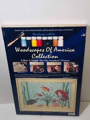 New Woodscapes of America Collection Underwater Babies Kit Seahorse Fish Turtle