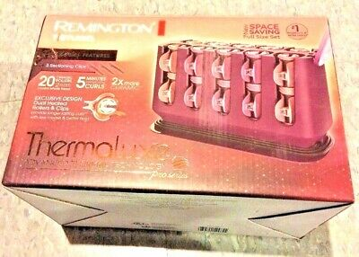 Remington H9100S TStudio Thermaluxe Ceramic Curler 20 Rollers Setter pageant