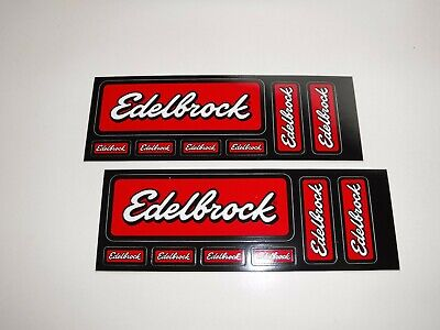 "Original   ""  Two    Edelbrock  Racing  7  Decal  Sheets  "" 7.25"" X 2.5"""