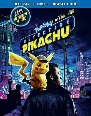 Pokemon: Detective Pikachu (Bluray/Dvd 2019)~ Brand New~ Digital Code~ Slipcover