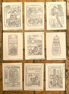 NEW 2019 Topps Wacky Packages OLD SCHOOL 8th SERIES 8 Complete PENCIL ROUGH Set