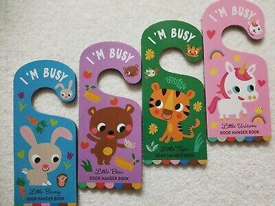 🔥 I'm busy door hanger books for children brand new and unread 😇 4 board books