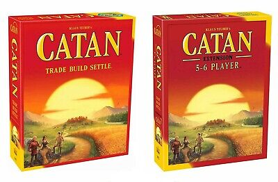 Catan 5th Edition Board Game with Catan 5-6 Player Extension NEW! FREE SHIPPING!