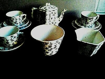 ANTIQUE MINIATURE RIDGWAYS TEA SET (my box 18)