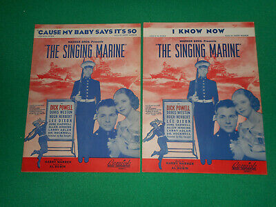 The Singing Marine 1937 movie Dick Powell 2 sheet music