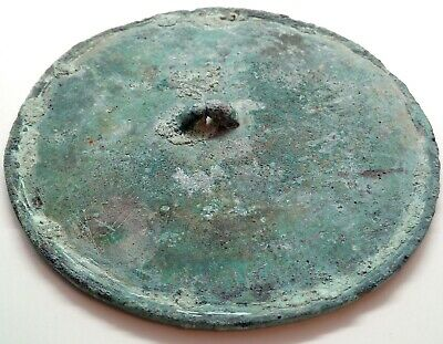 Bronze Mirror / Two fingers / Scythian / Coin 112mm/145gr. 600-100BC.  Rare