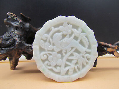 AAAAA Chinese Hand-carved aristocratic wearing Jadeite jade pendant bird SALE