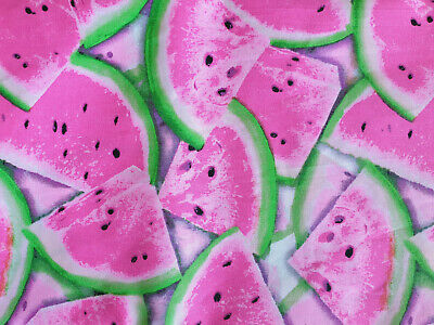 Printed Cotton Quilting Craft Sewing Fabric Meter Fat Quarter Pink Watermelon