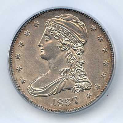 1837 50C Capped Bust Silver Half Dollar. ICG Graded MS 62. Lot #2253