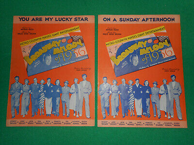 Two songs from Broadway Melody of 1936 movie sheet music all-star cast