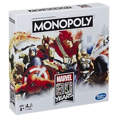 Avengers Monopoly Board Game Special 80 Years Anniversary Edition New