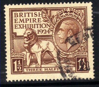 GB 1924 KGV 1 1/2d Brown British Empire Exhibition (1924) SG 431 ( H1361 )