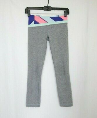 Ivivva by Lululemon Girl's Gray Crop Leggings size 10