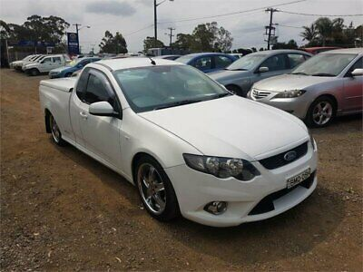 2009 Ford Falcon FG XR6 White Automatic 5sp A Utility