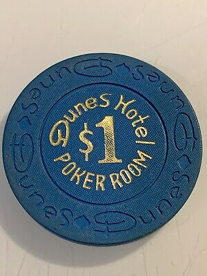 DUNES HOTEL POKER ROOM $1 Casino Chip LAS VEGAS Nevada 3.99 Shipping