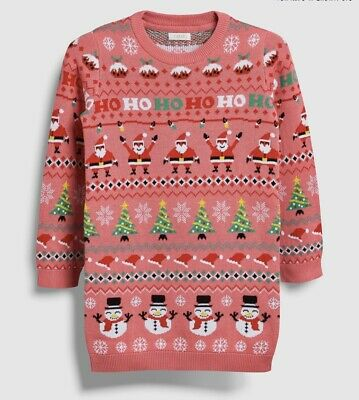 Next Girls Christmas Jumper Dress Age 14 Brand New With Tags. Unwanted Gift.