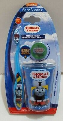 Brush Buddies Thomas And  Friends Toothbrush Set Toothbrush Cap and Cup