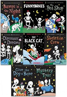 Funny Bones Series 8 Books Collection Set by Allan Ahlberg Humour Paperback NEW