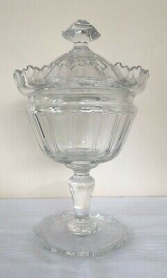 Cut Crystal Sweet Candy Bowl with Lid Christmas Party Table Centrepiece