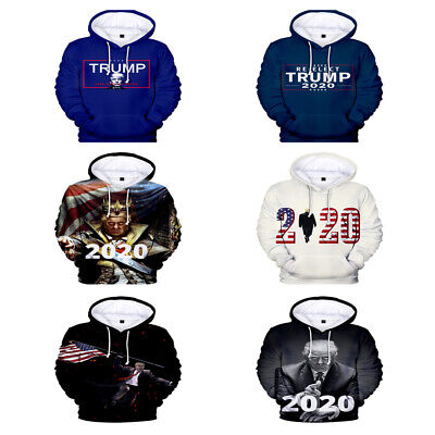 2019 Donald Trump election 3D digital printing fashion hooded sweater trend wild