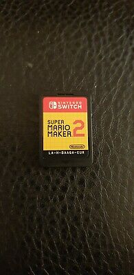Super Mario Maker 2 Nintendo Switch.  Game card Cartridge only. Fast postage