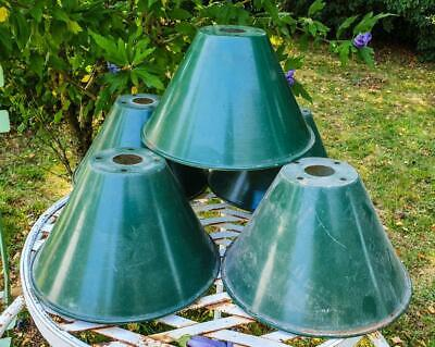 Vintage 1950s French Industrial Apartment Green Enamel Coolie Lamp Light Shades