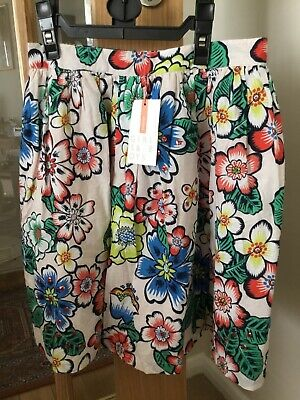John Lewis Girls Floral Print Lined Cotton Skirt - New - Aged 11yrs