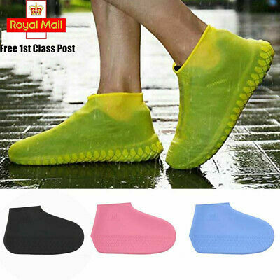 2X Silicone Overshoes Rain Waterproof Shoe Covers Boot Cover Protector Reusable