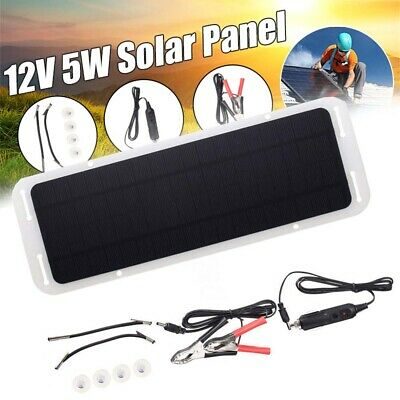 5W 12V Car Boat Yacht Solar Panel Trickle Battery Charger Outdoor Power Supplys