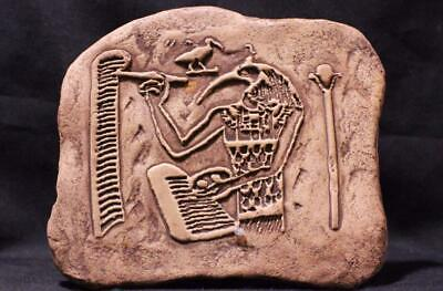 EGYPTIAN GOD THOTH - Inventor of Reading, Writing & Arithmetic - stone relief