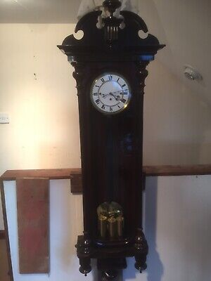 stunning antique mahogany grand sonnerie vienna wall clock c1880